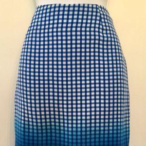 Bailey 44 Astley Dip Dye Silk Pencil Skirt Sz 4